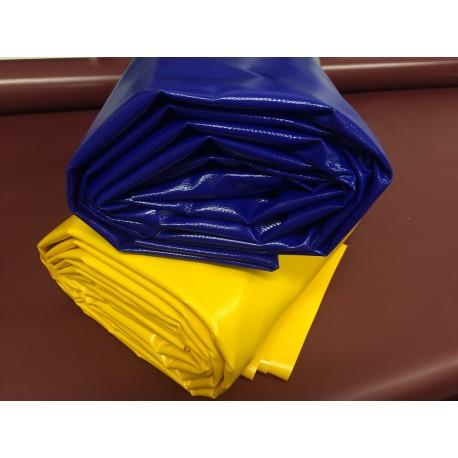 Blaue und Gelbe LKW-Plane für Pferde Dualgassen
