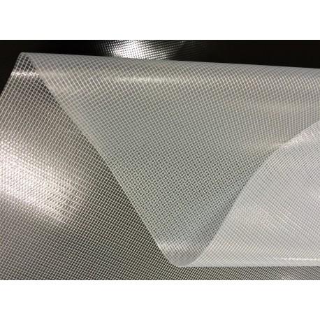 LKW-Plane, Gewebeplane: 1,20m breit -- Transparent -- ca.600g/m² - De. Qualität