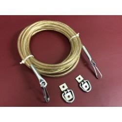 Anhänger Set (Zollseil 8mm - Seilendverschluß - Bügelkrampe) wählbare Längen
